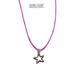 Silver necklace Star (Ε220)