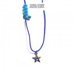 Silver necklace Star (Ε228)