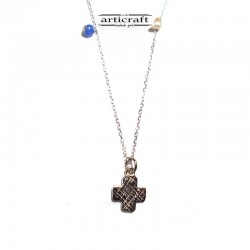 Silver necklace Cross (Ε235)