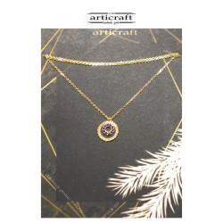 Silver necklace circles (Ε246)