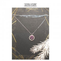 Silver necklace circles (Ε248)