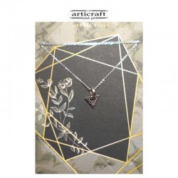 Silver necklace triangle...