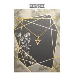 Ασημένιο κολιέ τρίγωνο (Ε250)