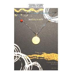 Silver necklace circle (Ε253)