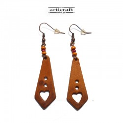 Leather Earrings (AR052)