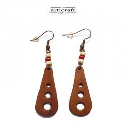 Leather Earrings (AR053)