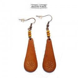 Leather Earrings (AR054)