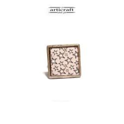 Ασημένιο δαχτυλίδι αστεράκια (AR059)