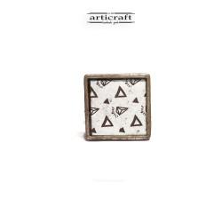Ασημένιο δαχτυλίδι τριγωνάκια (AR060)