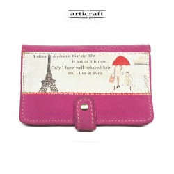 Leather suede pink wallet...