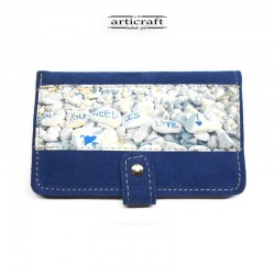 Leather suede blue wallet...