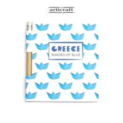 """Σημειωματάριο με μολύβι """"Καραβάκια"""" (G023)"""