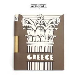 """Σημειωματάριο με μολύβι """"Κίονας - Greece"""" (G028)"""