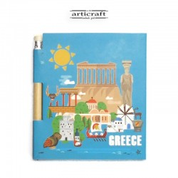"""Σημειωματάριο με μολύβι """"Greece"""" (G030)"""