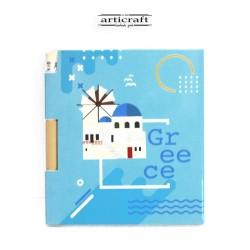 """Σημειωματάριο με μολύβι """"Summer Greece"""" (G031)"""