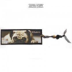 "Leather bookmark ""Dog"" (G033)"