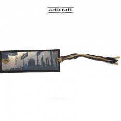 "Leather bookmark ""City"" (G037)"