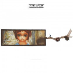 "Leather bookmark ""Girl"" (G040)"