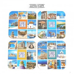 "Coasters set ""Greece"" (G054)"