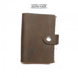 Cardholder booklet brown...