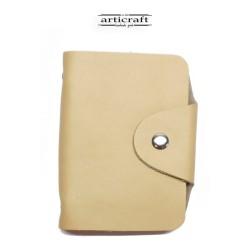 Cardholder booklet beige...