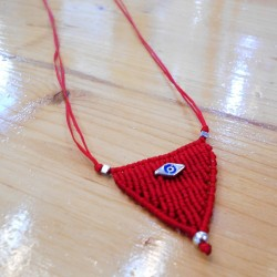 Makrame Necklace Eye (AR073)