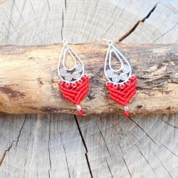Makrame Earrings Red (AR087)