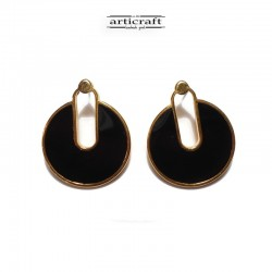 Earings black (Ε262)