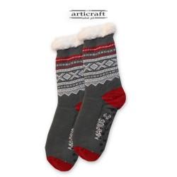 Κάλτσες - Παντόφλες με Επένδυση Γούνα και Αντιολισθητικό Πάτο (G124)