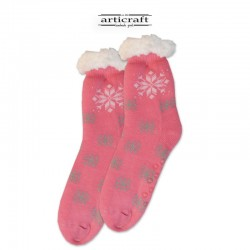 Κάλτσες - Παντόφλες με Επένδυση Γούνα και Αντιολισθητικό Πάτο (G135)