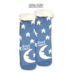 Κάλτσες - Παντόφλες με Επένδυση Γούνα και Αντιολισθητικό Πάτο (G101)