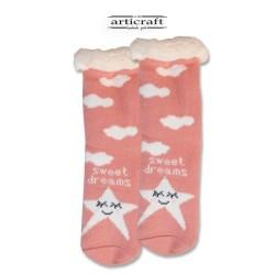 Κάλτσες - Παντόφλες με Επένδυση Γούνα και Αντιολισθητικό Πάτο (G102)