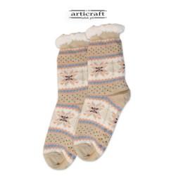 Κάλτσες - Παντόφλες με Επένδυση Γούνα και Αντιολισθητικό Πάτο (G108)
