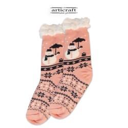 Κάλτσες - Παντόφλες με Επένδυση Γούνα και Αντιολισθητικό Πάτο (G112)