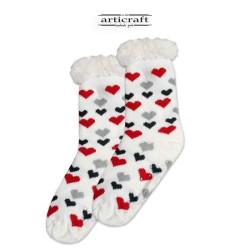 Κάλτσες - Παντόφλες με Επένδυση Γούνα και Αντιολισθητικό Πάτο (G153)