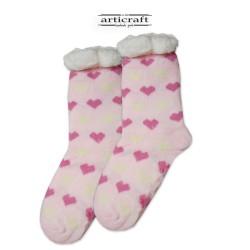 Κάλτσες - Παντόφλες με Επένδυση Γούνα και Αντιολισθητικό Πάτο (G158)