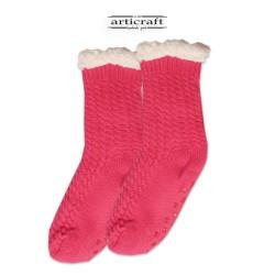 Κάλτσες - Παντόφλες με Επένδυση Γούνα και Αντιολισθητικό Πάτο (G168)