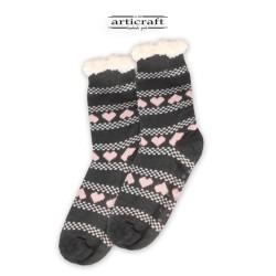 Κάλτσες - Παντόφλες με Επένδυση Γούνα και Αντιολισθητικό Πάτο (G174)