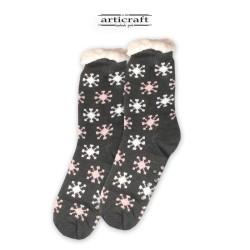 Κάλτσες - Παντόφλες με Επένδυση Γούνα και Αντιολισθητικό Πάτο (G175)