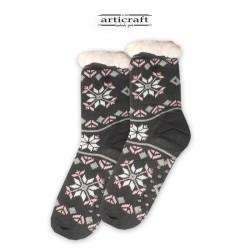 Κάλτσες - Παντόφλες με Επένδυση Γούνα και Αντιολισθητικό Πάτο (G176)