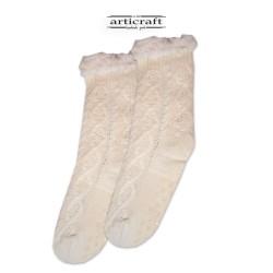 Κάλτσες - Παντόφλες με Επένδυση Γούνα και Αντιολισθητικό Πάτο (G180)