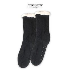 Κάλτσες - Παντόφλες με Επένδυση Γούνα και Αντιολισθητικό Πάτο (G179)