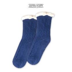 Κάλτσες - Παντόφλες με Επένδυση Γούνα και Αντιολισθητικό Πάτο (G181)