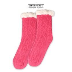 Κάλτσες - Παντόφλες με Επένδυση Γούνα και Αντιολισθητικό Πάτο (G182)