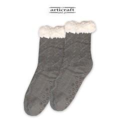 Κάλτσες - Παντόφλες με Επένδυση Γούνα και Αντιολισθητικό Πάτο (G183)