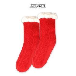Κάλτσες - Παντόφλες με Επένδυση Γούνα και Αντιολισθητικό Πάτο (G184)