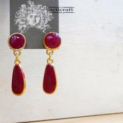 Handmade Earrings Red (AR124)