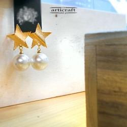 Handmade Earrings Star (AR126)