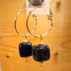 Handmade Earrings Cube (E264)