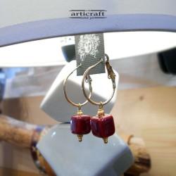 Handmade Earrings Cube (E265)
